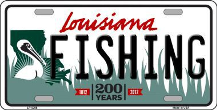 Fishing Louisiana Novelty Metal License Plate