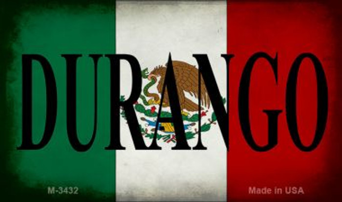 Durango Mexico Flag Novelty Metal Magnet M-3432