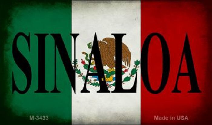 Sinaloa Mexico Flag Novelty Metal Magnet M-3433