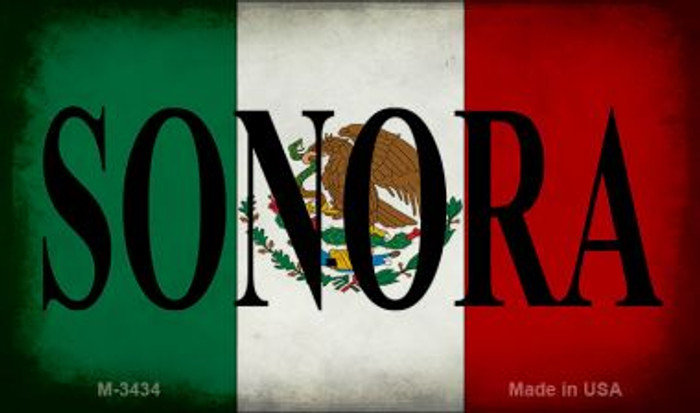 Sonora Mexico Flag Novelty Metal Magnet M-3434