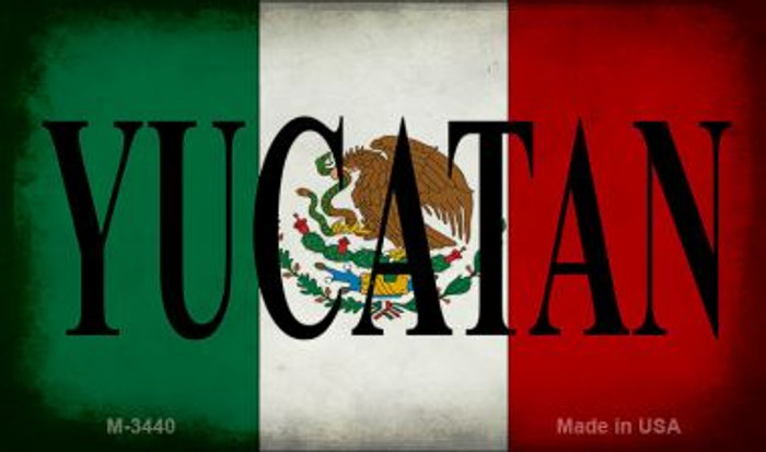 Yucatan Mexico Flag Novelty Metal Magnet M-3440