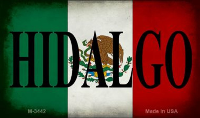 Hidalgo Mexico Flag Novelty Metal Magnet M-3442