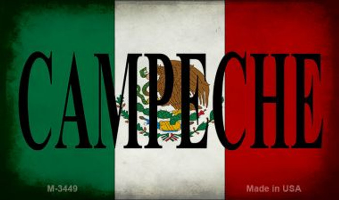 Campeche Mexico Flag Novelty Metal Magnet M-3449