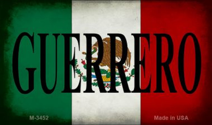 Guerrero Mexico Flag Novelty Metal Magnet M-3452
