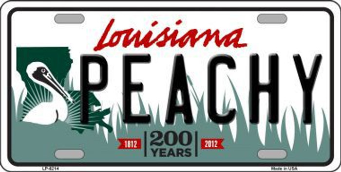 Peachy Louisiana Novelty Metal License Plate