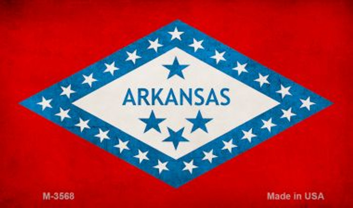Arkansas State Flag  Novelty Metal Magnet M-3568