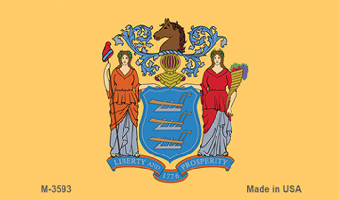 New Jersey State Flag Novelty Metal Magnet M-3593