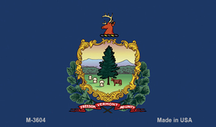 Vermont State Flag Novelty Metal Magnet M-3604
