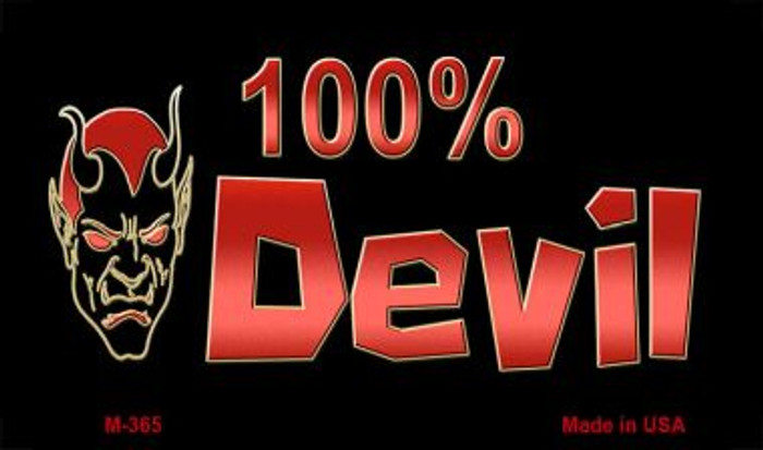 100% Devil Novelty Metal Magnet M-365