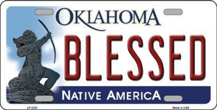 Blessed Oklahoma Novelty Metal License Plate LP-6223