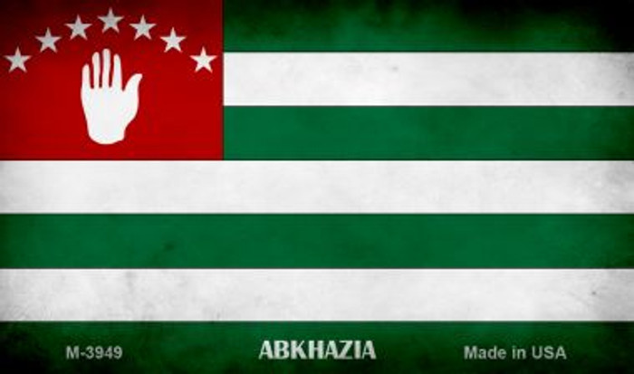 Abkhazia Flag Novelty Metal Magnet M-3949