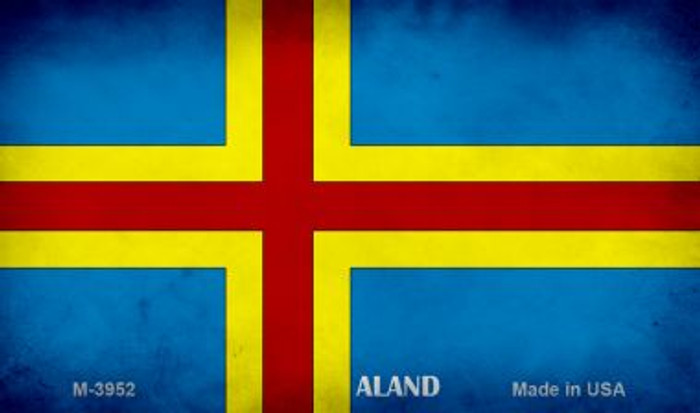 Aland Flag Novelty Metal Magnet M-3952