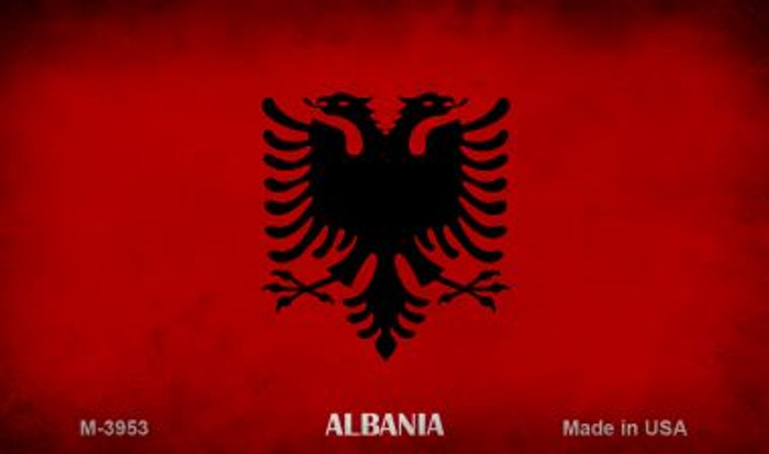 Albania Flag Novelty Metal Magnet M-3953