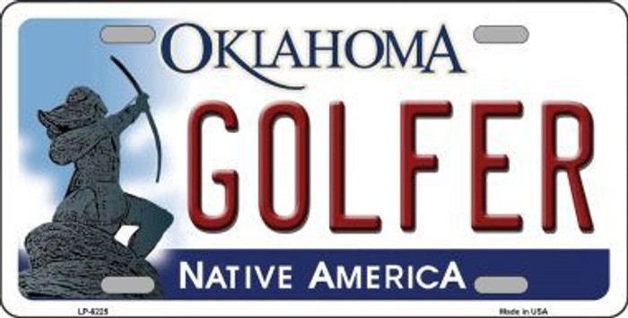 Golfer Oklahoma Novelty Metal License Plate LP-6225
