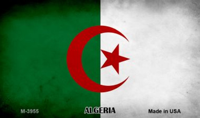 Algeria Flag Novelty Metal Magnet M-3955