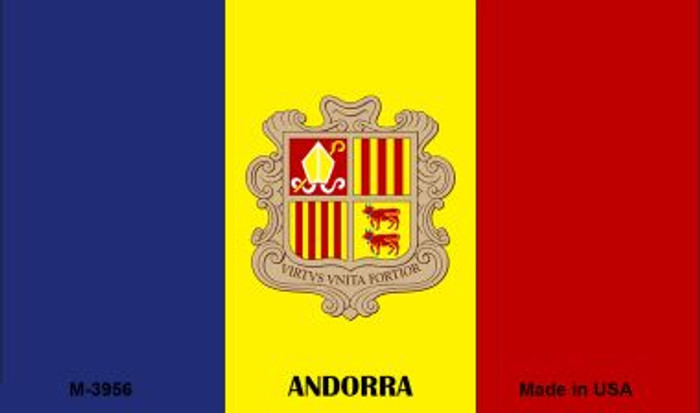 Andorra Flag Novelty Metal Magnet M-3956