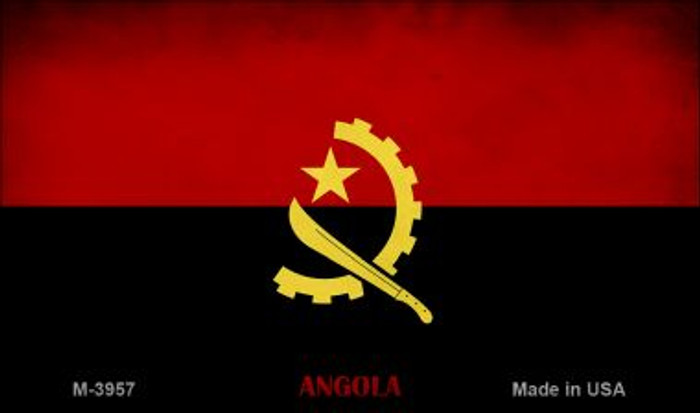 Angola Flag Novelty Metal Magnet M-3957