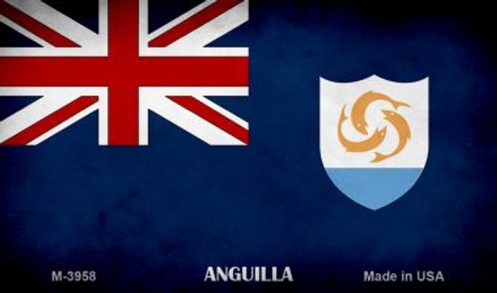Anguilla Flag Novelty Metal Magnet M-3958