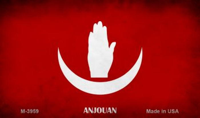 Anjouan Flag Novelty Metal Magnet M-3959