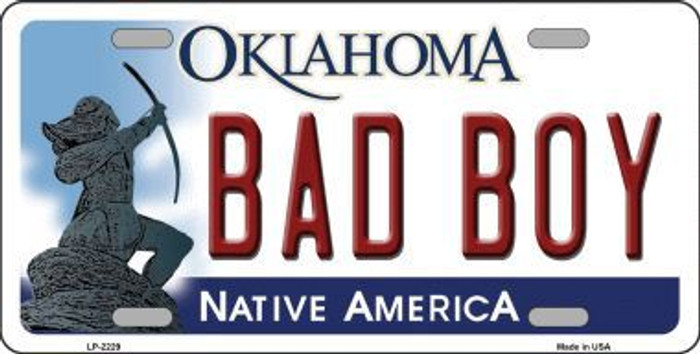 Bad Boy Oklahoma Novelty Metal License Plate LP-6229