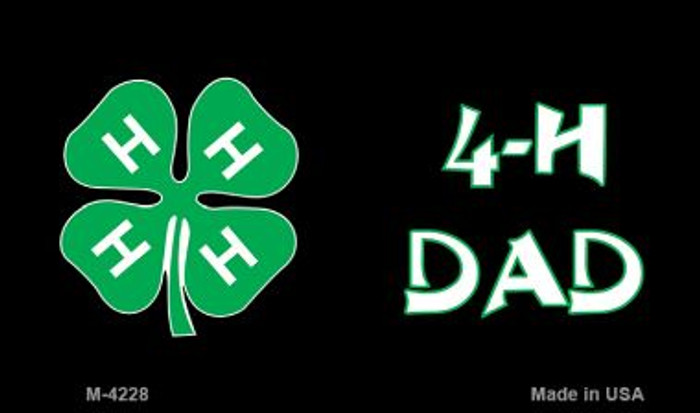 4-H Dad Novelty Metal Magnet M-4228