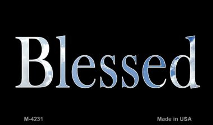 Blessed Clouds Novelty Metal Magnet M-4231