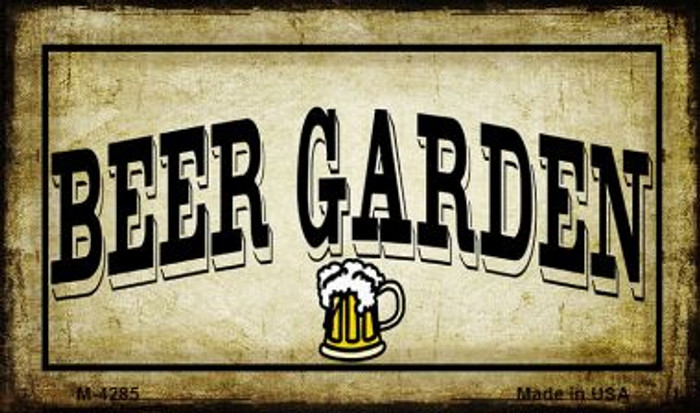 Beer Garden Novelty Metal Magnet M-4285