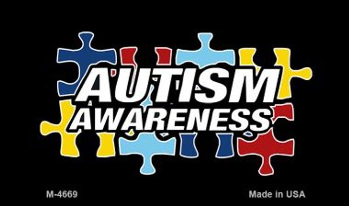 Autism Awareness Puzzle Novelty Metal Magnet M-4669