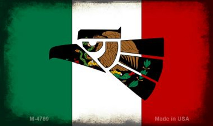 Made In Mexico (Flag) Novelty Metal Magnet M-4769