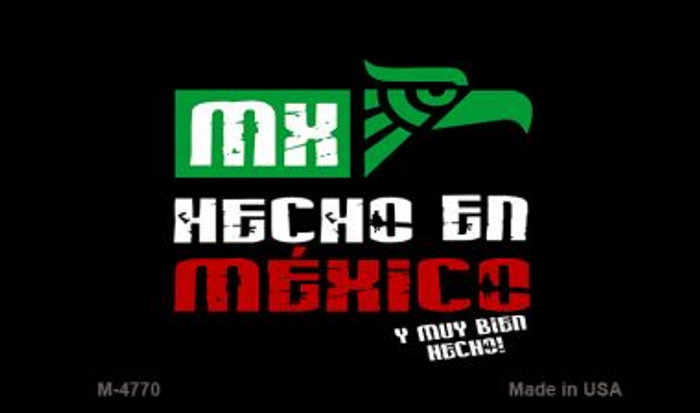Made In Mexico Novelty Metal Magnet M-4770