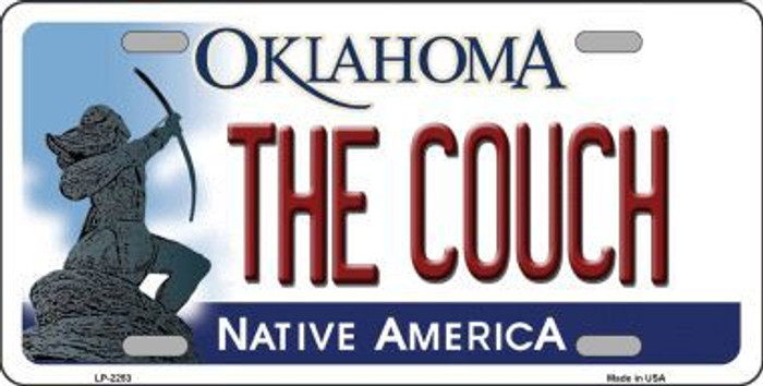 The Couch Oklahoma Novelty Metal License Plate LP-6253