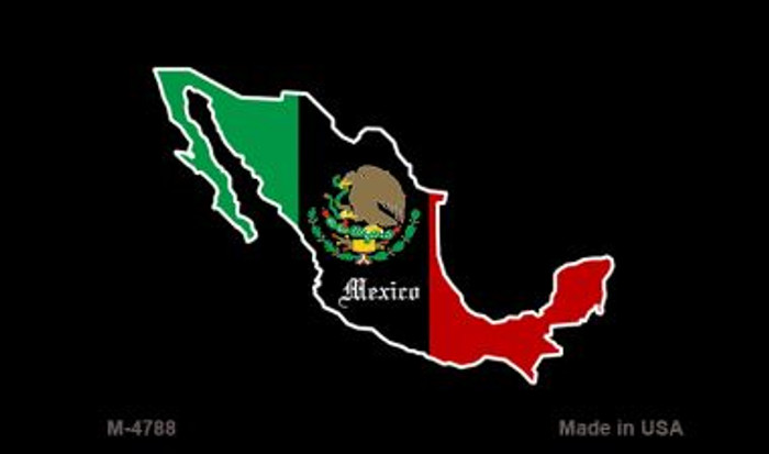 Mexico Outline Novelty Metal Magnet M-4788