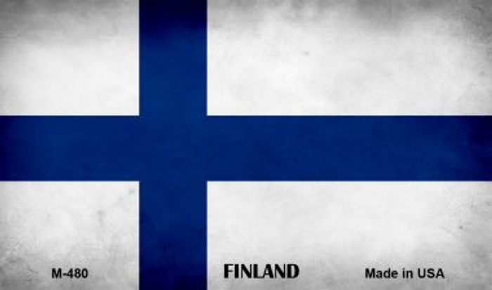 Finland Flag Novelty Metal Magnet M-480