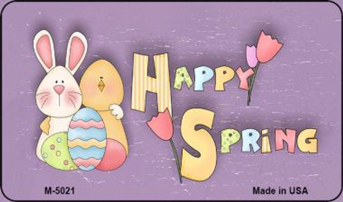 Happy Spring Purple Novelty Metal Magnet M-5021