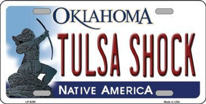 Tulsa Shock Oklahoma Novelty Metal License Plate LP-6258