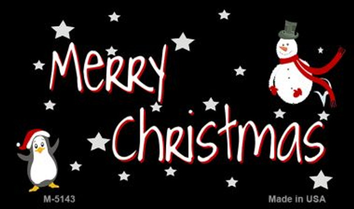 Merry Christmas Novelty Metal Magnet M-5143
