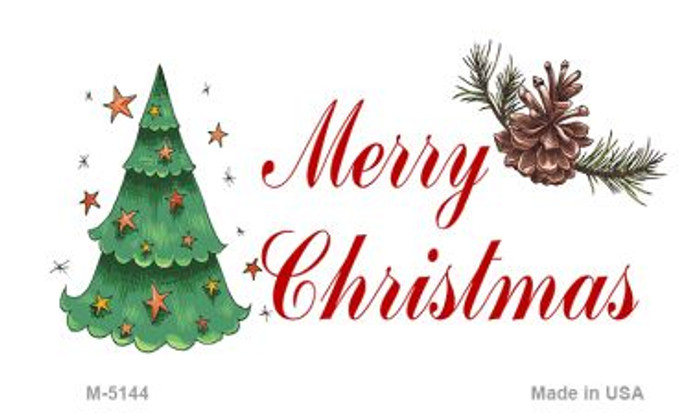 Merry Christmas Novelty Metal Magnet M-5144