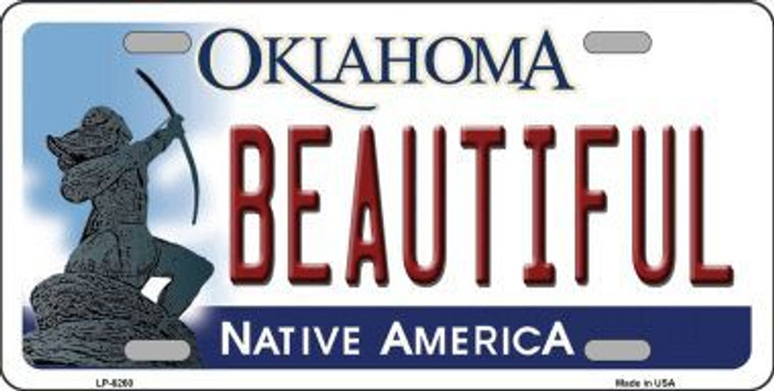 Beautiful Oklahoma Novelty Metal License Plate LP-6260