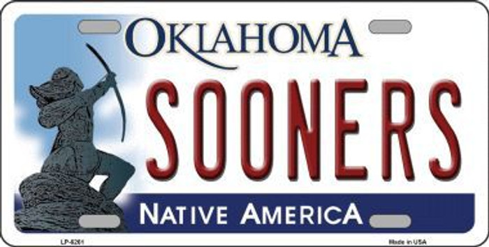 Sooners Oklahoma Novelty Metal License Plate LP-6261