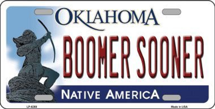 Boomer Sooner Oklahoma Novelty Metal License Plate LP-6268