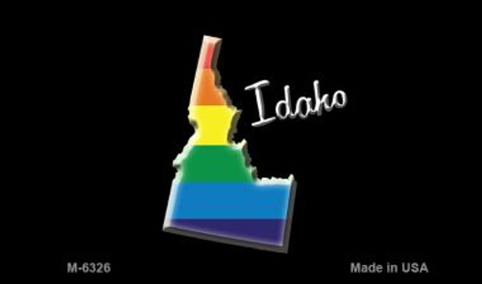 Idaho State Outline Rainbow Novelty Metal Magnet M-6326