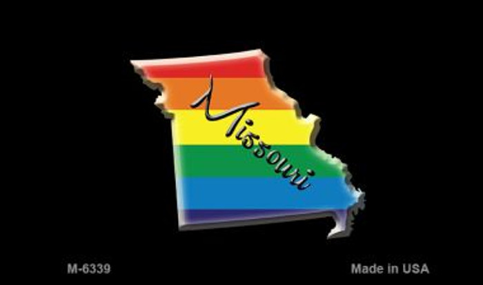 Missouri State Outline Rainbow Novelty Metal Magnet M-6339