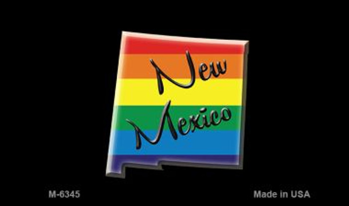New Mexico State Outline Rainbow Novelty Metal Magnet M-6345