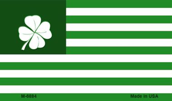 Green Shamrock Flag Novelty Metal Magnet M-6884