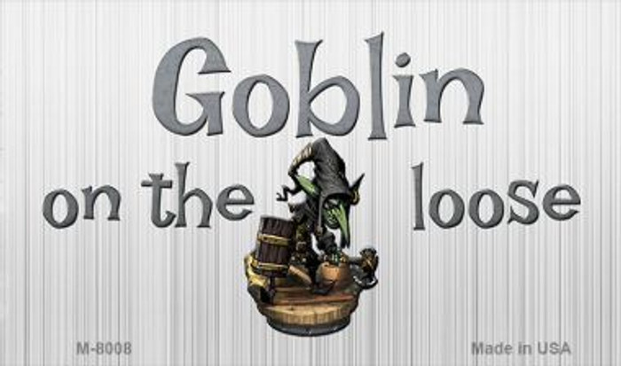 Goblin On The Loose Novelty Metal Magnet M-8008