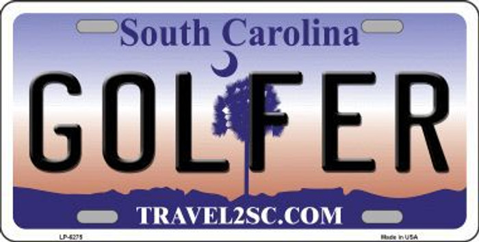 Golfer South Carolina Novelty Metal License Plate LP-6275