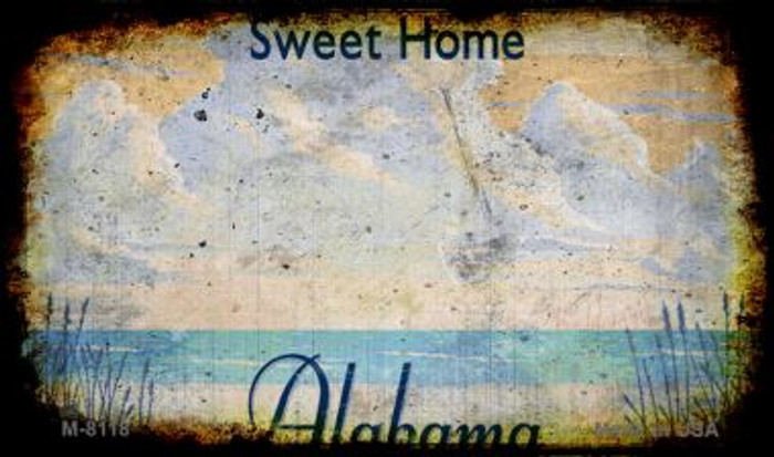 Alabama Rusty Blank Novelty Metal Magnet M-8118