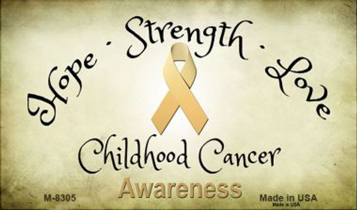 Childhood Cancer Ribbon Novelty Metal Magnet M-8305