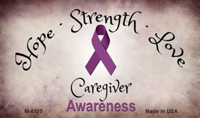 Caregiver Ribbon Novelty Metal Magnet M-8325