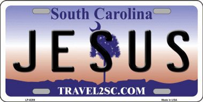 Jesus South Carolina Novelty Metal License Plate LP-6289